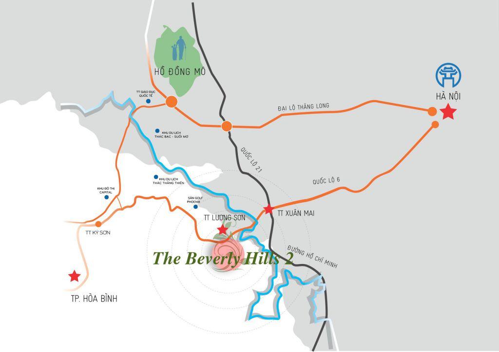 Vị trí Beverly Hill Hòa Bình