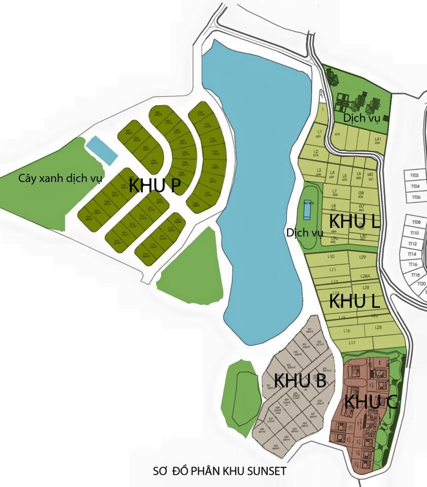 Sơ đồ phân lô biệt thự Sunset Villas & Resort